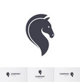 stylized dark horse head for mascot logo template vector image vector image