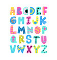 summer alphabet vector image