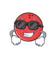 super cool bowling ball character cartoon vector image vector image