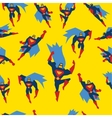 Superman Seamless Pattern vector image vector image