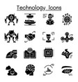 technology icon set graphic design vector image