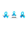 template logos for prostate cancer with moustache vector image