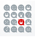 unny flat style emoji or emoticon speech bubble vector image