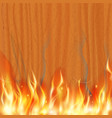 wooden texture is burning stock vector image