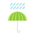umbrella symbol flat icon logistic vector image