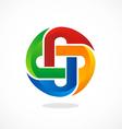 circle color abstract logo vector image