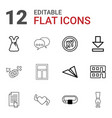 12 shape icons vector image vector image