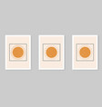 abstract sun posters contemporary backgrounds set vector image