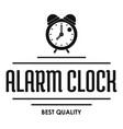 alarm clock logo simple black style vector image vector image