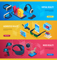 augmented reality isometric virtual reality vector image vector image