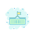 bank building icon in comic style government vector image vector image