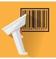 Barcode scanner flat design vector image