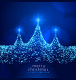 beautiful christmas festival card with sparkle vector image vector image