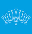 big crown icon outline style vector image vector image