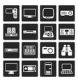 Black Hi-tech equipment icons vector image vector image