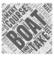 Boating Course Word Cloud Concept vector image vector image