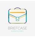 Briefcase icon company logo business concept vector image