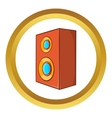 Brown speaker icon vector image vector image