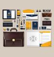 Business corporate identity items set