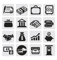 business financial icons vector image vector image