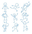 business stickman hand drawn figures in different vector image vector image