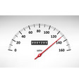 car speedometer with speed level scale isolated on vector image