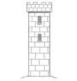 cartoon drawing medieval or fantasy castle vector image