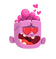 cartoon pink zombie in love vector image vector image