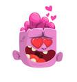 cartoon pink zombie in love vector image