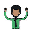 character man waving hand people image vector image vector image
