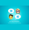 chat bot banner concept for online learning vector image