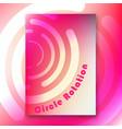 circle rotation interior poster vector image vector image