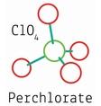 ClO4 Perchlorate molecule vector image vector image