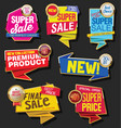 Collection of sale discount and promotion banners