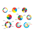 color round diagrams - set of infographic vector image