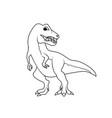 coloring book tyrannosarus or t-rex dinosaur vector image vector image