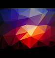 dark blue light red triangular background vector image vector image