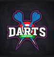 Darts porting logo and leisure design vector image vector image