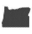 dot halftone oregon state map vector image