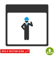 Engineer Calendar Page Eps Icon vector image vector image