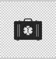 first aid box and medical symbol of the emergency vector image vector image