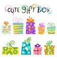 floral gift box vector image vector image