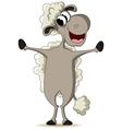 funny sheep cartoon vector image
