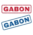 Gabon Rubber Stamps vector image vector image