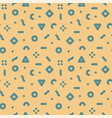 geometric seamless trendy pattern - memphis vector image vector image