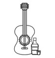 Guitar instrument with tequila bottle