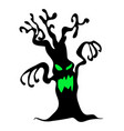 halloween creepy scary bare tree monster symbol vector image vector image