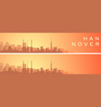 hannover beautiful skyline scenery banner vector image vector image