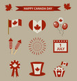 happy canada day icon set design elements vector image vector image