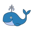 Happy cartoon whale vector image vector image